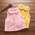 2017 Baby Girls Vests Waistcoats Girl Spring & Autumn Waistcoat Kids Jacket and coat kid Pink Yellow vest kids clothes YOBEBE