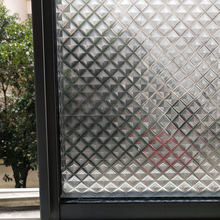 3D Magic Crystal Pattern Decorative Window Film,Static Non-adhesive Frosted Glass Film Stickers Vinyl Foil Decal For Home