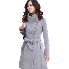 European Fashion Women New Style Slim Long Sleeve Woolen Elegant Winter Warmth Casaul Coats Jackets