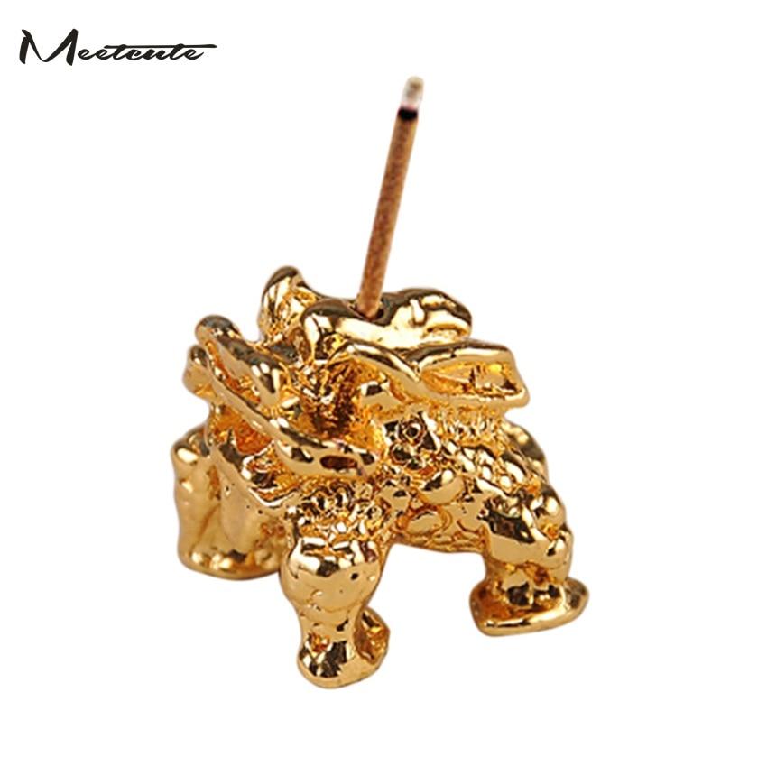 Meetcute kadidlo držák na kadidlo hole slitiny zvířat ručně řemesla ozdoba domácí dekorace