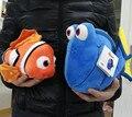 Envío Gratis 1 Unidades Finding Nemo juguetes de peluche, Nemo y Dory fish Peluche Suave Peluche de Juguete para el regalo del bebé