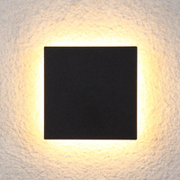 YooE Waterproof IP65 Wall Lamp Modern Indoor/Outdoor 10W LED Wall Light Decor Rectangle Aluminum Wall Sconce