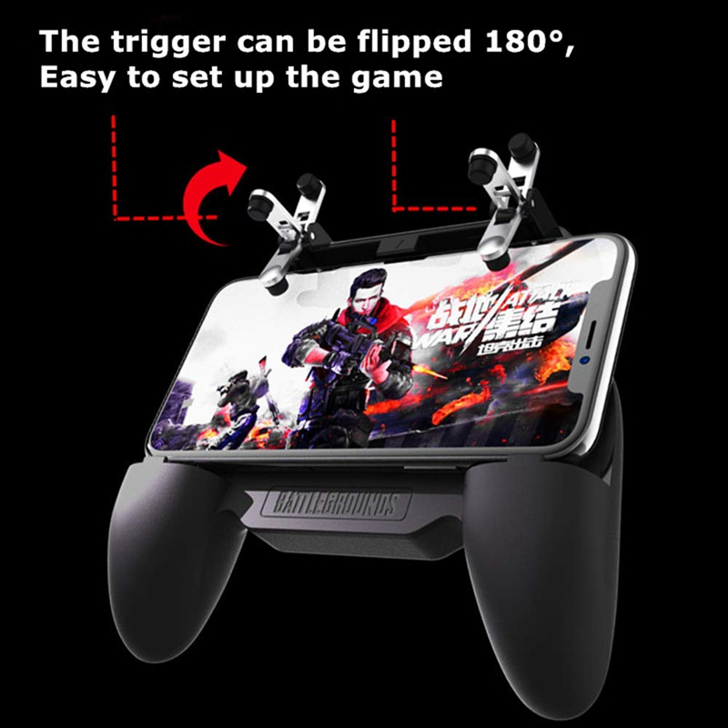 Image 3 - Gaming Grip With Portable Charger Cooling Fan,For Pubg Mobile Controller L1R1 Mobile Game Trigger Joystick For 4 6.5 inch Phon-in Gamepads from Consumer Electronics