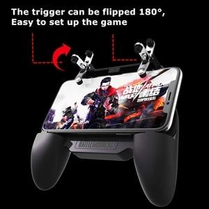 Image 3 - גריפ משחקים עם מטען נייד קירור מאוורר, עבור Pubg נייד בקר L1R1 נייד משחק הדק ג ויסטיק עבור 4 6.5 אינץ Phon