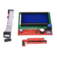 12864 LCD Control Panel Smart Controller Display Compatible with Ramps 1.4 Ramps 1.5 Ramps 1.6 For RepRap Mendel 3D Printer hot sale 3d printer kit 12864 lcd ramps smart parts ramps 1 4 controller control panel lcd 12864 display monitor motherboard blu