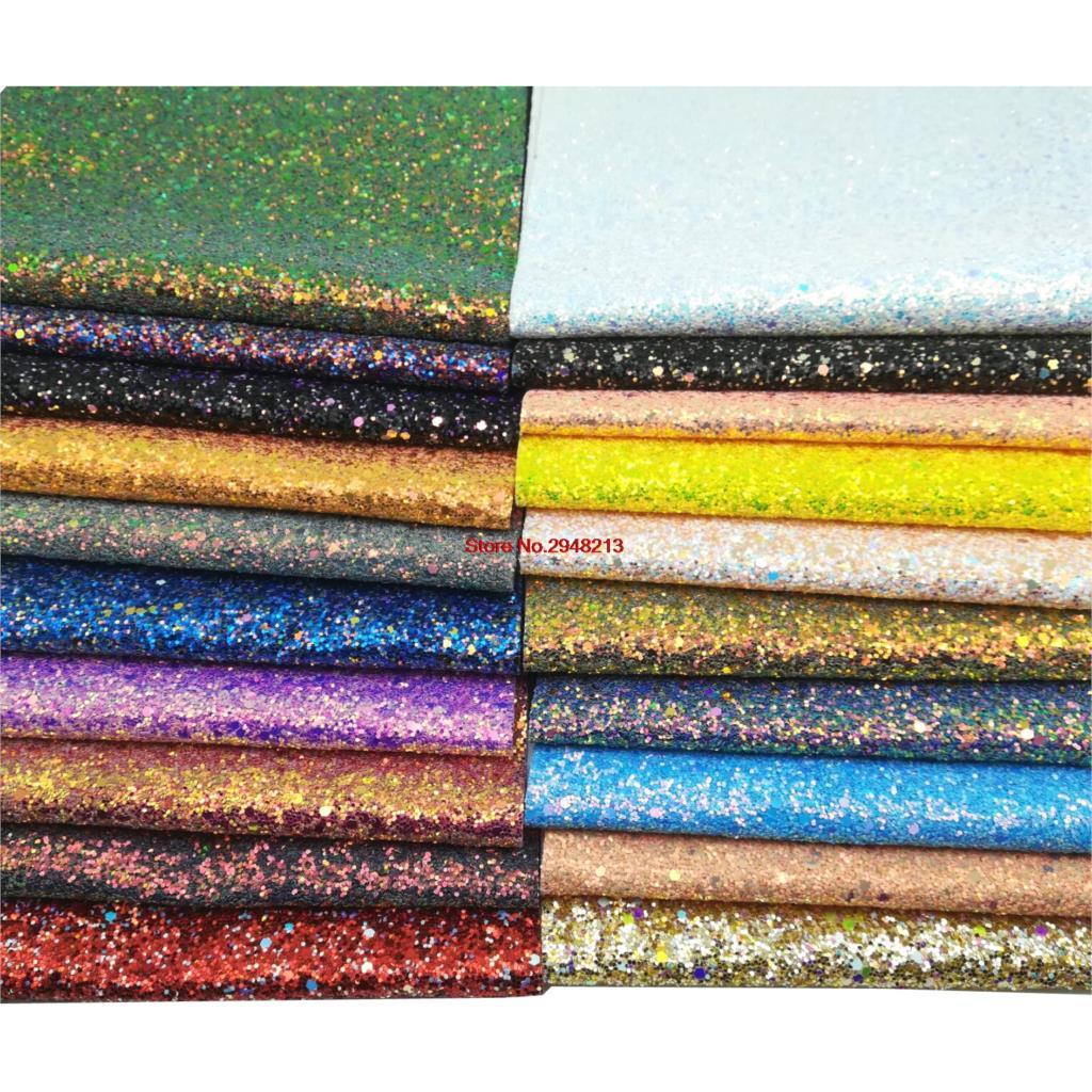 20 цветов блестящие блеск синтетическая кожа ткань Vinly для День святого Валентина волос лук сумки 20 * см 34 см 10 шт./лот PJYL01