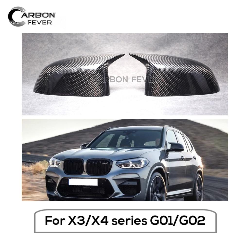 for BMW X3 G01 2018 Glossy CAR Accessories Rearview Mirror Rain Eyebrow Trim 2*