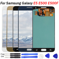 E5 AMOLED LCD For Samsung Galaxy E5 LCD Touch Digitizer Assembly E500 E5000 LCD E500F Display E500H E500M Phone LCD phone parts