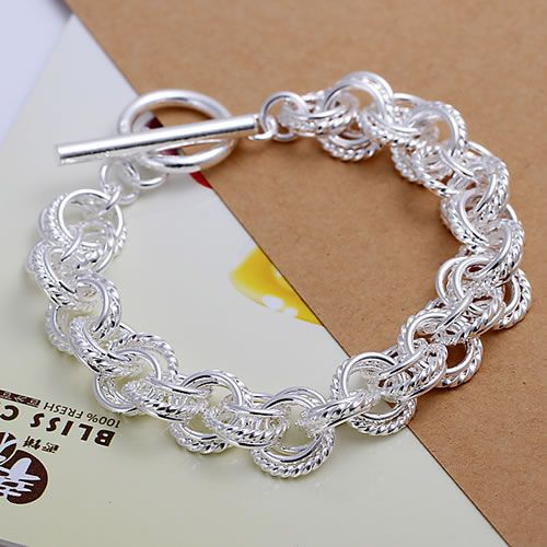 H023 Fine silver plated wholesale jewelrys,Hot sale Factory price charm free shipping 925 fashion Triple Bracelet /acpaitwa 5