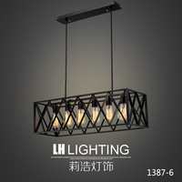 LampsManufacturers Selling Vintage American Industrial Iron Chandelier Chandelier Iron Wholesale Minimalist Personality Living R
