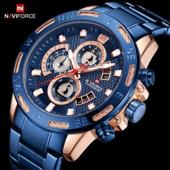NAVIFORCE 9165 Mens Watches Chronograph Military Male Clock Analog Quartz Watches For Men with box