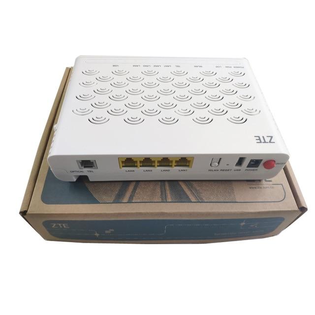 גרסה חדשה 6.0 ZTE GPON נתב ZXA10 F660 ONU/ONT עם 1GE + 3FE + 1 קול + WIFI + 1USB, רשת אופטית מסוף אנגלית גרסה