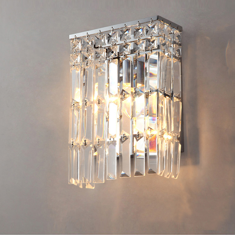contemporary wall lamps bathroom led wall mount light bedside bedroom crystal wall lights crystal wall sconce rustic crystal wall lamp fixture with fabric shade for bathroom aisle bedside light e14 1 2 light led indoor wall lamps crystal