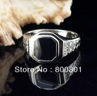 30963 Mens Silver Rings Arabic