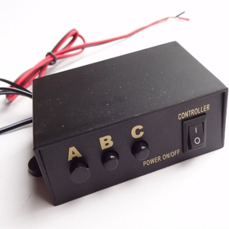 DC 12 V 6 Ways Car LED Strobe Light Controller for Lightbar Warning Light Dash Light Controller