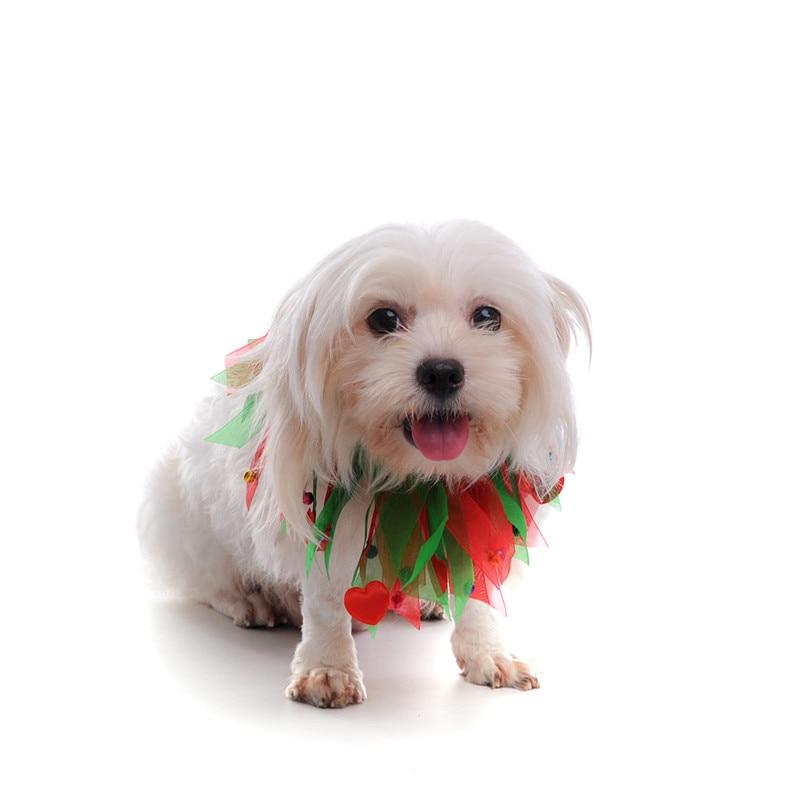 Kleurrijke Honden Halsband met Bell Kerst Zijden Lint Halsbanden - Producten voor huisdieren - Foto 6