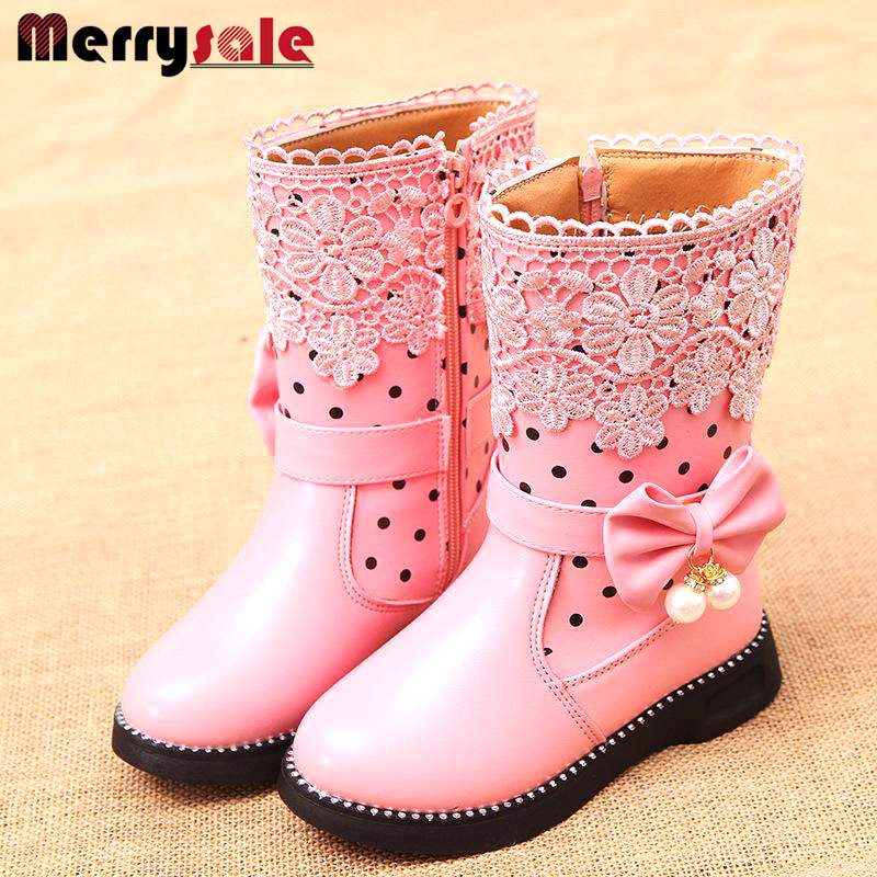 2016 new high insulated boots girls snow boots child s boots general leather boots