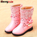2016 new high insulated boots girls snow boots child's boots general leather boots