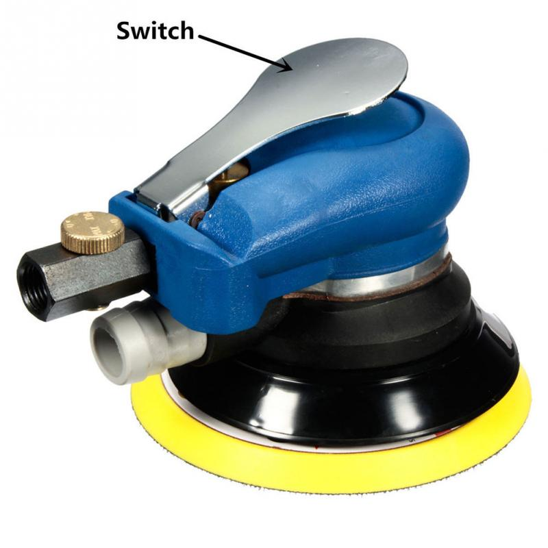 цена на New Air Random Orbital Palm Sander 5'' 125mm Dual Action Vacuum Pneumatic Tools Hose
