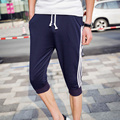 Amazon Quality Drop Shipping Spring 2016 Fashion Men Calf Length Pants Bottoms Casual Pants