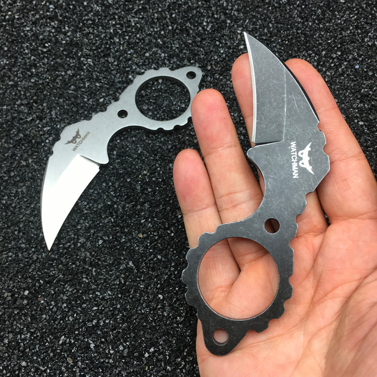 Watchman Claw Karambit Fixed Blade Neck knife Tactical Hunting Survival EDC Tool Collection Factory sale MH187-C