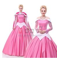 Discount Princess Sleeping Beauty Aurora Costume Princess Dresses For Adults Halloween Costumes For Women With Free Petticoat