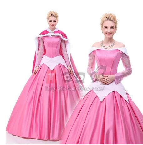 Discount Princess Sleeping Beauty Aurora Costume Princess Dresses For  Adults Halloween Costumes For Women With Free 630fb703b4d