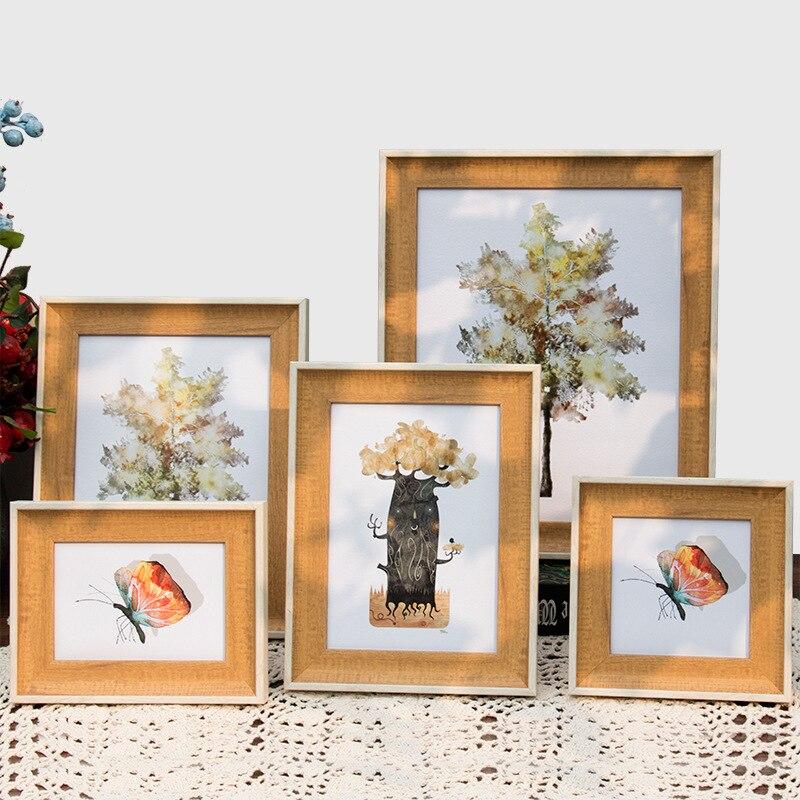 Nordic Stijl Huis Frames Tafel En Muur Opknoping Fotolijsten Multi Maten Foto Frames Voor Sofa Achtergrond Decor Cadre Foto Aantrekkelijke Mode