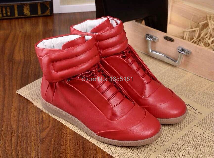 2016 Newest maison martin margiela casual shoes Red genuine Leather high  quality shoes Hot Sale Men s shoes eu 38 47-in Men s Casual Shoes from Shoes  on ... bb31a8ccd