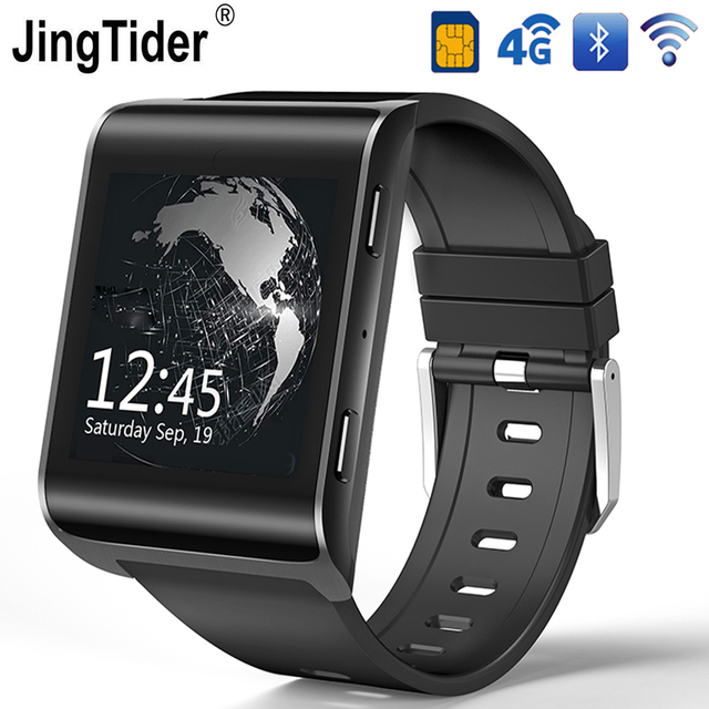 "4G Android Smart Watch JT2018 GPS Bluetooth Smartwatch 900mAh MTK6737 Quad Core 1GB/16GB 1.54"" HD IPS Wristwatch Wifi Sim Card"