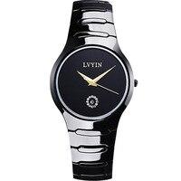 luxury man wristwatch ceramic white black mens watches lvyin brand men's watches 200m waterproof Swim quartz male clocks