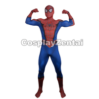 Spiderman Cosplsy Costume 3D Print Spandex Halloween Zentai Suit for Men