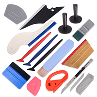 EHDIS Vinyl Car Wrap Auto Accessories Tools Kit Carbon Foil Film Wrapping Squeegee Scraper&Magnet Holder&Sticker Cutter Knife