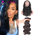 Malaysian Body Wave 360 Lace Frontal With Bundle,Ear To Ear Lace Frontal Closure With Bundles Malaysian Virgin Hair With Closure