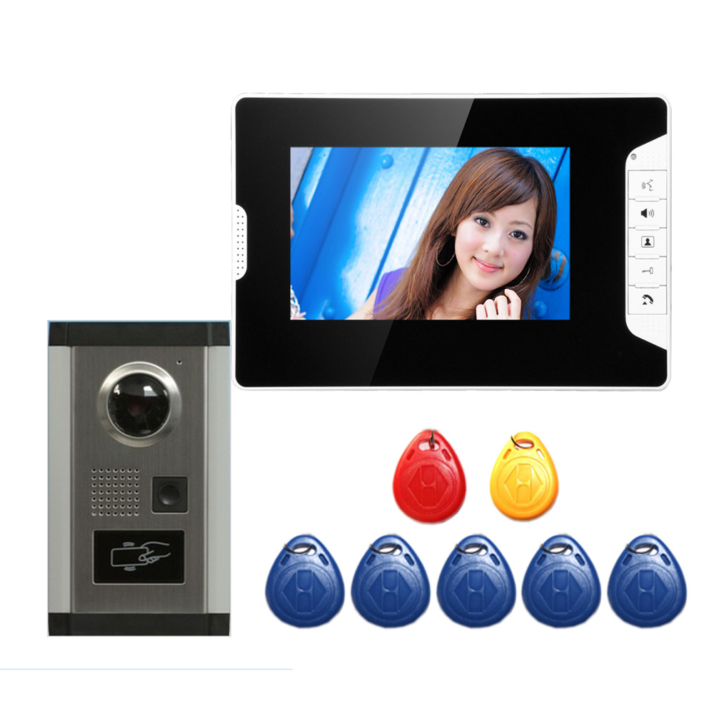 7 inch wired high-definition swipe card embedded installation video doorbell 7 inch wired high definition swipe card embedded installation video doorbell