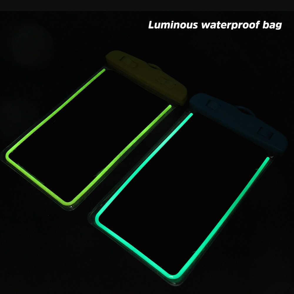 في الهواء الطلق مضيئة للماء الحقيبة السباحة الشاطئ حقيبة جافة حالة غطاء حامل ل فون سامسونج S10 S9 Xiaomi هواوي الشرف كوكه