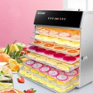 Image 3 - مجفف تجفيف الطعام آلة الفاكهة المجففة المنزلية والتجارية الذكية التي تعمل باللمس 8 layer قدرة البصرية الباب مضاءة