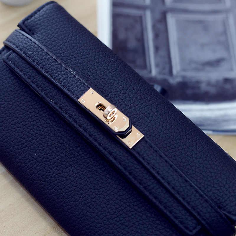 2018 Fashion lederen portemonnee dollar prijs luxe portemonnees vrouwen portefeuilles designer hoge kwaliteit kaarthouder beroemde merk clutch