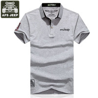 Afs Jeep Brand Polo Shirt Men Solid Slim Fit Breathable Polo Shirts Plus Size 3XL Embroidery