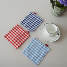 Japanese Simple Cloth Coaster Mat Non Slip Insulation Pad Double Layer  Creative Placemat Cotton Small Square Scarf 11*11cm