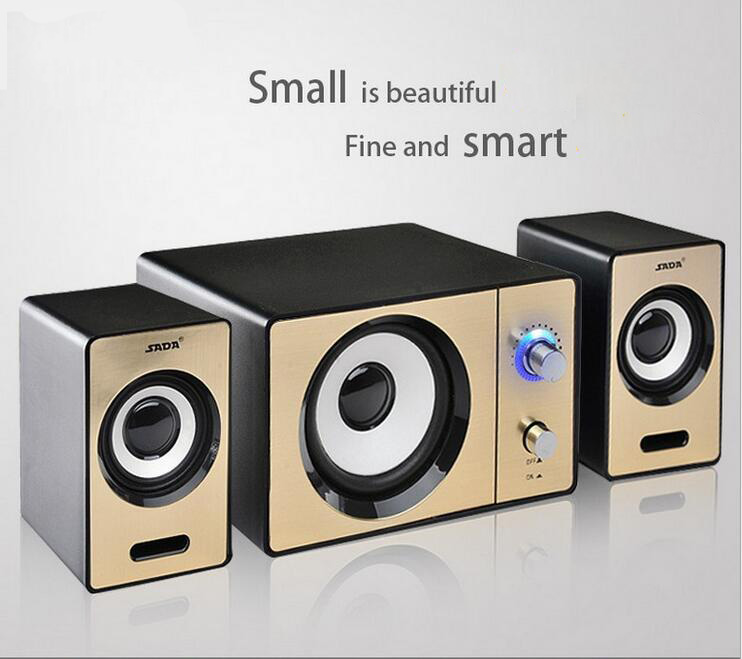 High Quality Mini Computer Speaker 2.1 Multimedia Laptop Computer Mini Stereo Notebook Portable USB Subwoofer Support AUX Input image