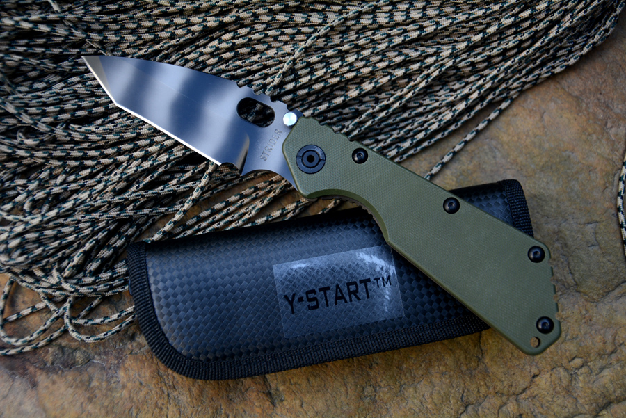 SMF Survival Knife S35VN Blade Flame Titanium Handle Fold knife RW 1 NAVY Tanto Rogue warrior