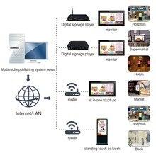 84 98 polegada tft lcd visor do painel de tela de tv hd spliting monitorar Remotamente sistema de publicidade quiosque digital personalizado software público