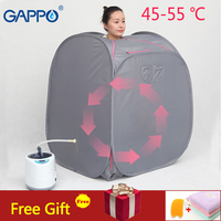 GAPPO Portable Steam Sauna room Beneficial skin infrared sauna Weight loss Calories home bath SPA steam generator capacity 2L