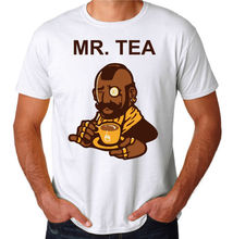 Mr Tea Funny Mens Mr T Parody White Novelty Cool 80's Party Costume New T-Shirt Personalized T Shirt  T Shirt