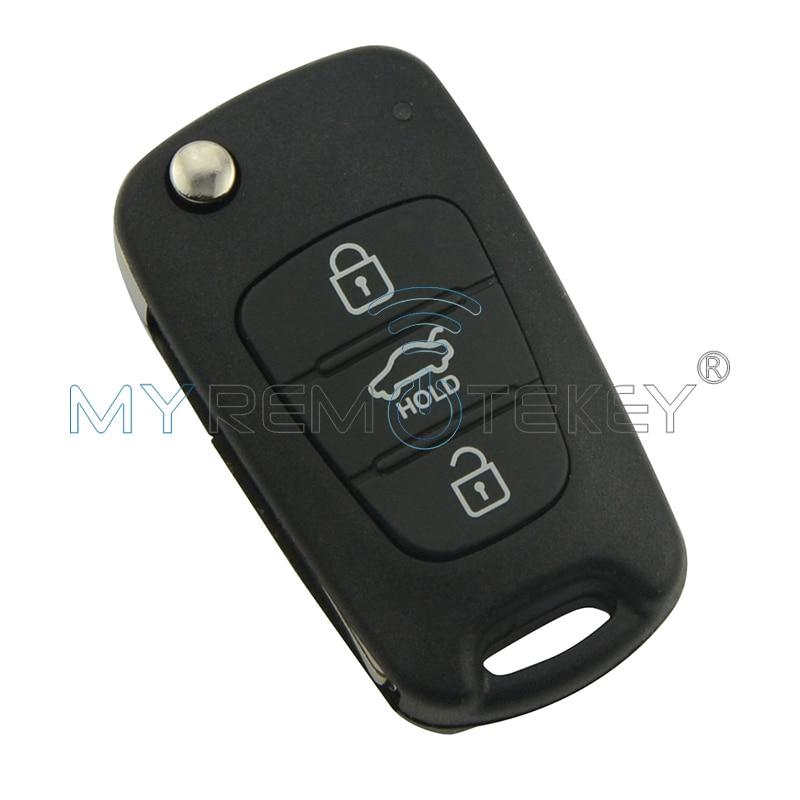Flip Remote Key ar 46 mikroshēmas 3 taustiņu 434Mhz Hyundai I20 - Auto rezerves daļas