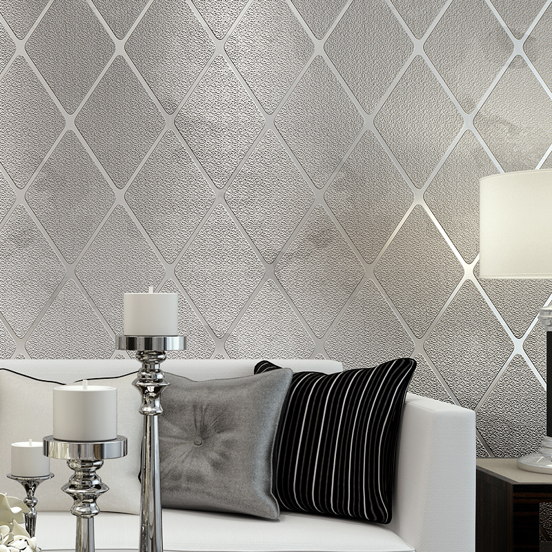 Non-woven Fabric Wallpaper For Walls Roll Modern 3D Stereoscopic Lattice Striped Wall Paper For Living Room Decoration Home home improvement decorative painting wallpaper for walls living room 3d non woven silk wallpapers 3d wall paper retro flowers page 4