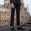 Calças xadrez homens 2016 chegada nova Mens Casual Wear de alta qualidade dos homens de Slim lazer calças para homens calças