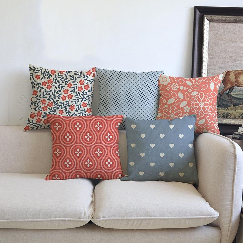 Patio Furniture Cushion Cover Patterns: Classic Geometric Patterns Cushion Cover Sofa Chair