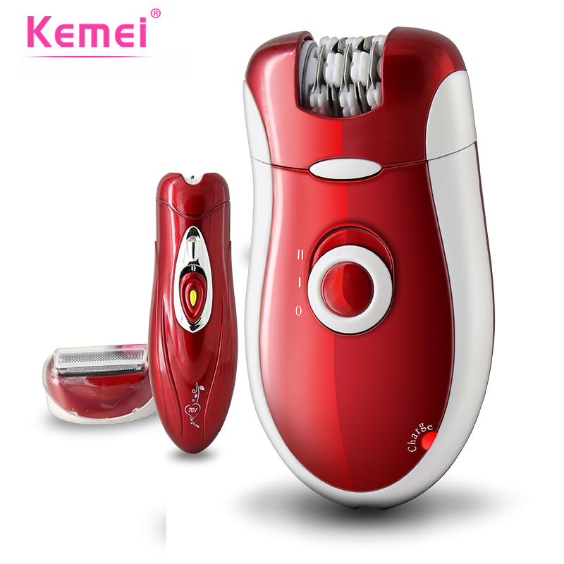 KEMEI 3 in 1 Women Shave Wool Device Knife Wool Epilator Electric Shaver Hair Removal Bikini Body Leg Hair Shaving BT-166 original kemei women electric epilator rechargeable washable lady shaver hair body hair trimmer shave wool removal device